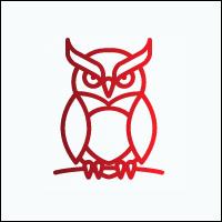 Logo be užrašo su plonu rėmu