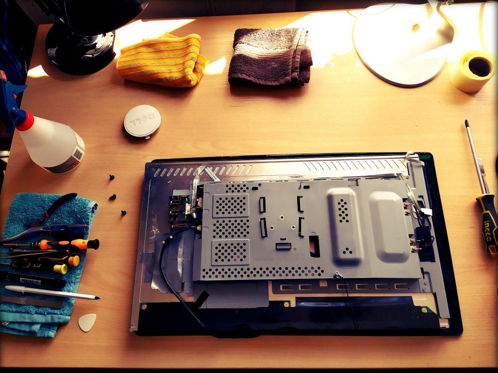 lcd led monitorių remontas